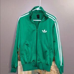 Adidas Originals Track Jacket green/white stripe S